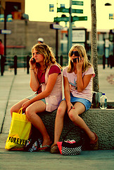Image: 'Free Train Station Girls Talking on Cell+Phones+Creative+Commons'  http://www.flickr.com/photos/40645538@N00/2796862756 Found on flickrcc.net